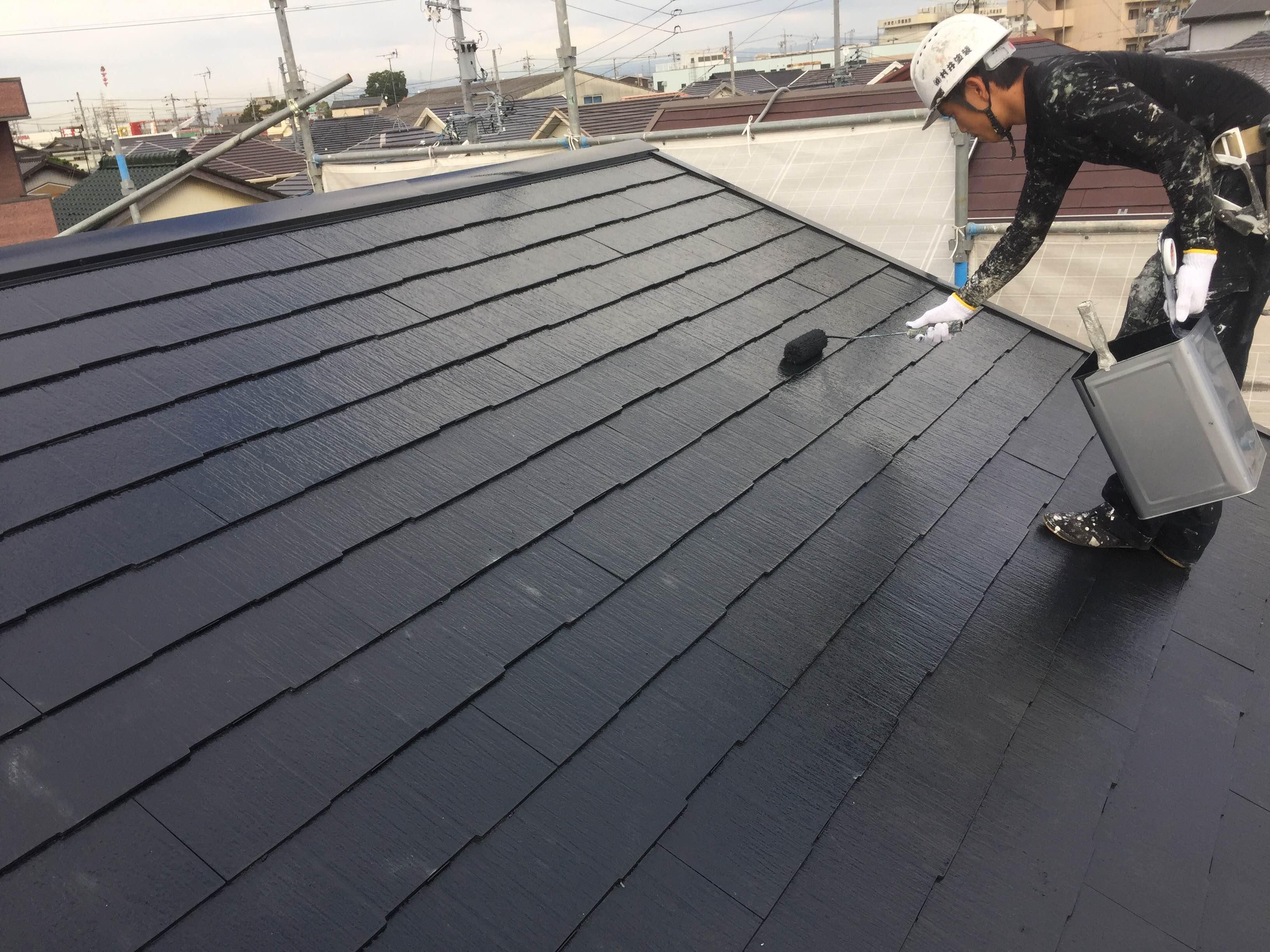 スレート 屋根 塗装