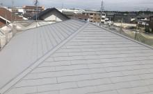 愛知県西尾市碧南市岡崎市安城市外壁超低汚染無機フッ素塗装屋根ガイナ塗装色褪せクラック汚れシール割れ屋根完成