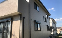 愛知県西尾市碧南市岡崎市安城市外壁超低汚染無機フッ素塗装屋根ガイナ塗装色褪せクラック汚れシール割れ施工後全体写真
