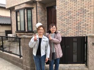 愛知県西三河東三河西尾市外壁塗装工事網戸張替え工事アステック超低汚染無機フッ素塗装汚れ傷み色褪せメンテナンスお客様と写真